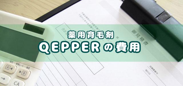 薬用育毛剤QEPPER(ケッパー)の費用